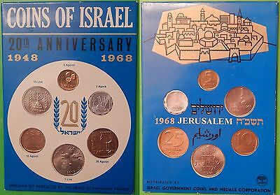 1968 Isreal 20th Anniversary Specimen Set Including Collector Card