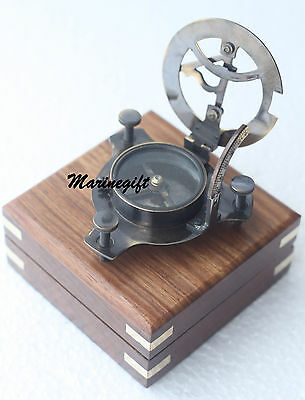 Brass Sundial Compass Nautical Maritime Antique Vintage Style Decor Gift