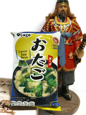 1Pcs Soup Japanese Seaweed & Egg laver soup miso  Freeze Dried Healthy Food 9g