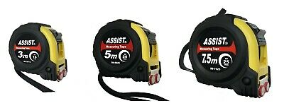 ASSIST Tape Measure Shock Absorbent Rubber Case Strong Magnetic Hook 3M 5M 7.5M
