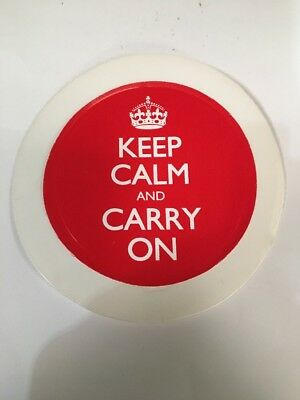 Universal Car Parking/ Permit Holder /Tax Disc Holder / KEEP CALM AND CARRY ON