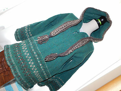Vintage Hand Woven  Hooded Jumper By Marie Olsson Size M Good Condition