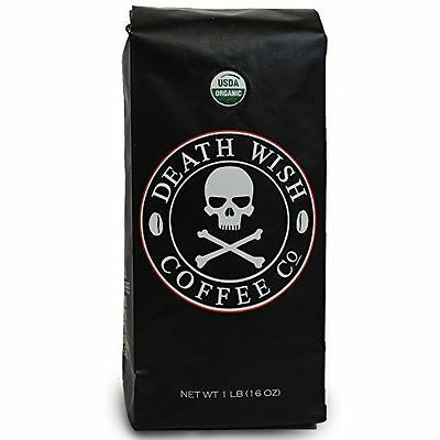 16oz Death Wish Whole Bean Coffee The World's Strongest Coffee New Free Shipping