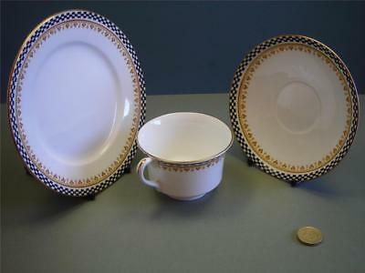 "Shelley E10791""Chequered""Pattern.Cup,Saucer&Tea Plate."
