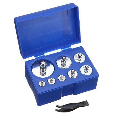 8Pcs Precision Calibration Weight Digital Scale Set 10/20/50/100/200/500g Grams