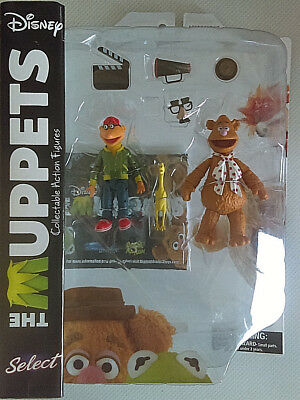 DIAMOND SELECT Disney THE MUPPETS Fozzie & Scooter Collectable Action Figure MOC