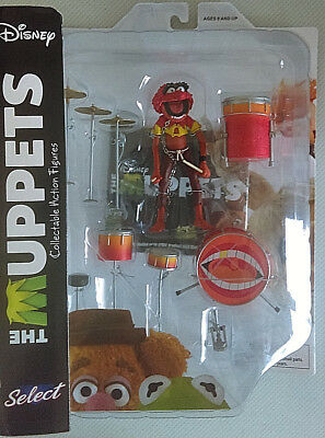DIAMOND SELECT Disney THE MUPPETS Animal +Drum Set Collectable Action Figure MOC