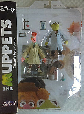 DIAMOND SELECT Disney THE MUPPETS Bunsen & Beaker Collectable Action Figures MOC