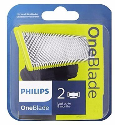 2x Philips OneBlade Replacement Heads  - (1x Twin pack contains two blades)