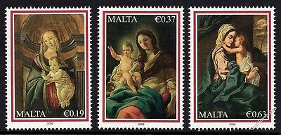 Malta 2009 Christmas Complete Set SG1635 - 1637 Unmounted Mint