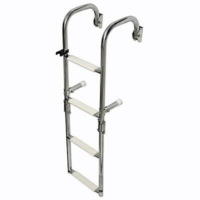 Osculati Stainless Steel Folding Ladder Boarding Ladder with gekrümmtem
