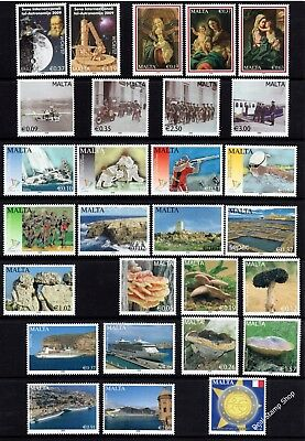 Malta 2009 Complete Year Set SG1610 - 1637 Unmounted Mint