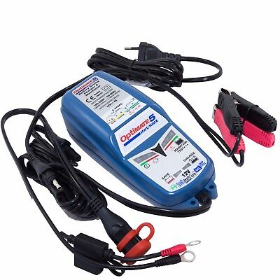 Chargeur Optimate 5 12V 4A pour batterie camping car van acide AGM et GEL