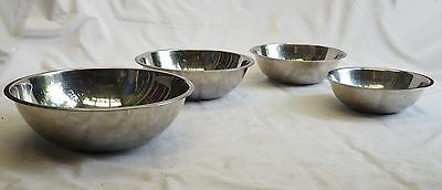 Set of 4 Stainless Steel Kitchen Bowls 4 Different Sizes