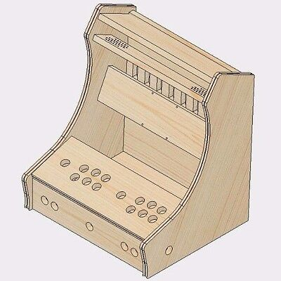 "Bartop Arcade Machine 18Mm - 2 Player Diy Flat Pack Kit & ""t-Mold"" - Mdf"