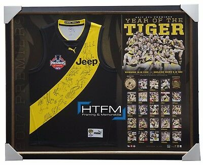 2017 Afl Premiers Richmond Signed Official Grand Final Jumper Framed - Martin