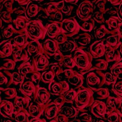 Red Roses 50cm Hydrographics Film FOLDED Floral Hydro Dipping