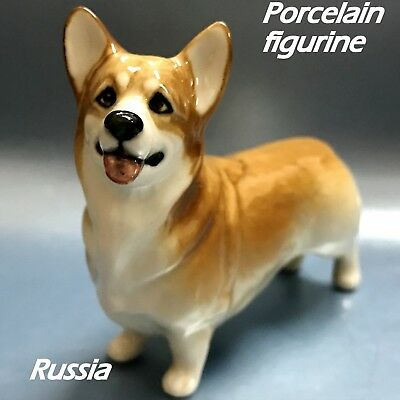 Corgi porcelain figurine Dog miniature Souvenirs from Russia high quality