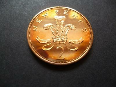 1971 Proof 2P Piece, 1971 Proof Two Pence Coin Very Toned
