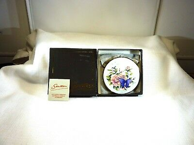 Vintage Stratton,England Rose & Butterfly Powder Mirror Compact (In Box)