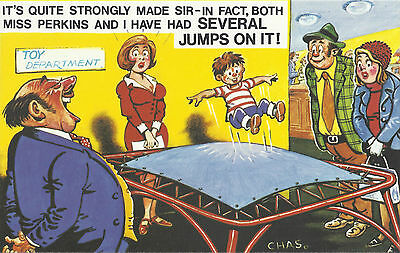 Vintage 1970's Bamforth COMIC Postcard (as new condition) Several jumps on #454