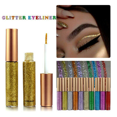 Metallic Shiny Smoky Flashing Eyeliner Eyes Eyeshadow Waterproof Glitter Liquid
