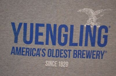 Yuengling America's Oldest Brewery Since 1829 XL t shirt gray 100% cotton beer