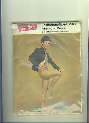 70er Vintage Feinstrumpfhose *Günther*Gr. 52-44*Zwickel*Collant*Tights*Panty(122