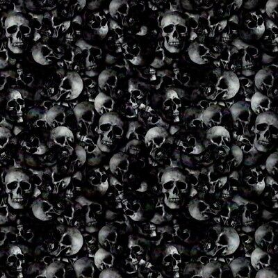 Dead Heads Small 50cm Hydrographics Film FOLDED Skulls Hydro Dipping