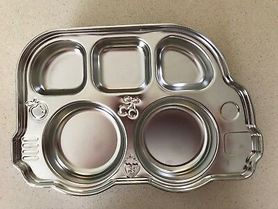Din Din Smart By Innobaby Stainless Divided Platter PlatE Bus Stainless Steel