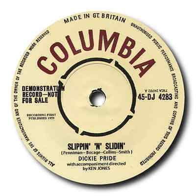 "DICKIE PRIDE - ""Slippin N Slidin"" B/W ""Fabulous Cure"" TOP BRITISH ROCK N ROLL"