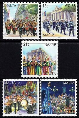 Malta 2007 Military Bands Complete Set SG1569 - 1573 Unmounted Mint