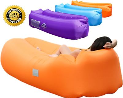 WEKAPO Inflatable Air Lounger, Blow up Sofa Couch, Portable Chair, with Carry Ba