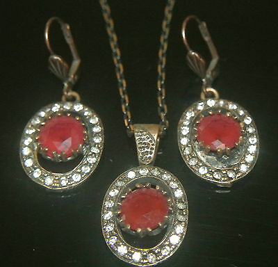 Handcrafted Turkish Ottoman Victorian Style Reproduction 4 Carat Ruby Brass Set