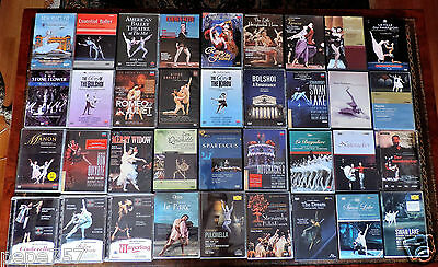46 DVDs BALLETS Great performes & labels MUST SEE