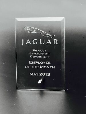 Personalised Logo Glass Plaque Trophy Award - Engraved Corporate Logo