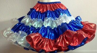 Red White And Blue Lame And Opal Petticoat By Evas Petticoats