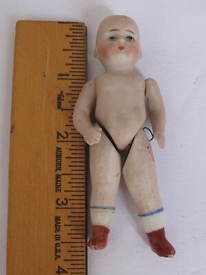 "Antique Small 3 1/2""  All Bisque Doll"