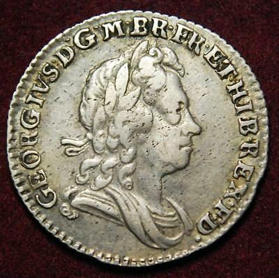 GB George I silver sixpence 1723 SSC in angles - very nice grade