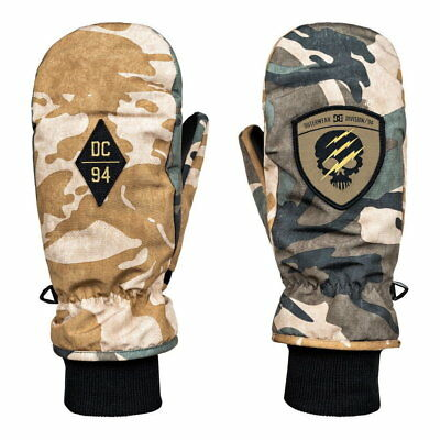 Dc Shoes Shelter Mitt British Woodland Camo Guanti Moffole Snowboard Fw 2018 New
