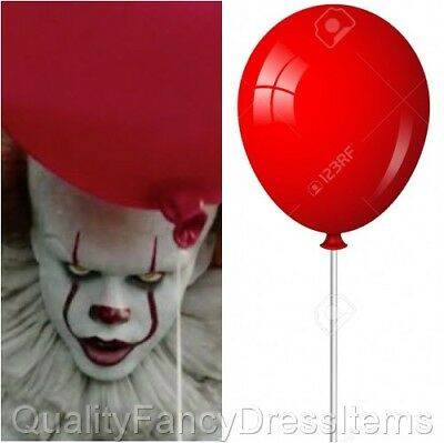 Halloween IT Evil Clown Large 2 RED BALLOON HOLDER Fancy Dress Pennywise Outfit
