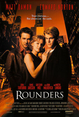 ROUNDERS MOVIE POSTER 2 Sided ORIGINAL FINAL 27x40 MATT DAMON EDWARD NORTON
