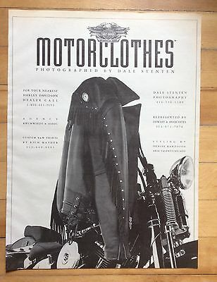 1992 Motorclothes Print Ad