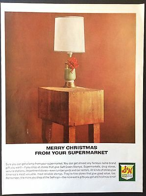 1964 S&h Greenstamps Supermarket Christmas Print Ad