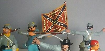 ACW Confederate troops - Toy soldiers from different manufacturers and epochs.
