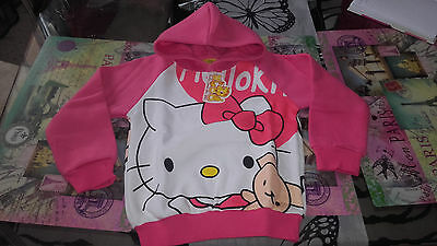 Sweat a capuche Hello kitty Neuf 4 ans