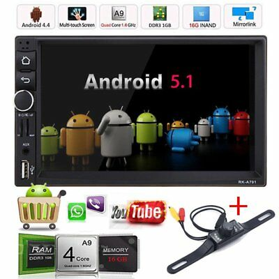 "CAM 7"" HD Android 5.1 Car Stereo Radio Player GPS Navigation 2Din WIFI FM BT FB"