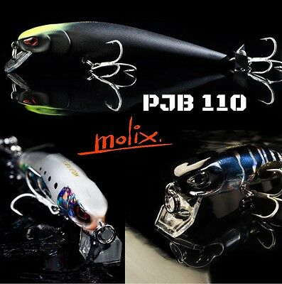 New!!!ultimate Topwater Lure By Molix Propeller Jerk Bait 110