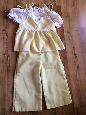 Vintage 12 Month Yellow Girls Shirt & Pants Set