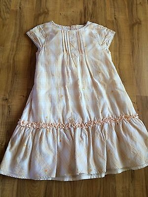 Vintage Orange Floral Girls Dress